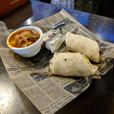 Cod Wrap served at brockway irish pub in carmel