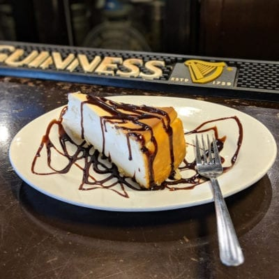 Irish Cream Cheesecake served at brockway irish pub in carmel