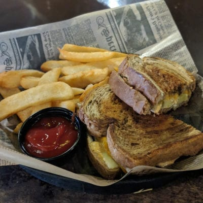 Irish Grilled Cheese served at brockway irish pub in carmel