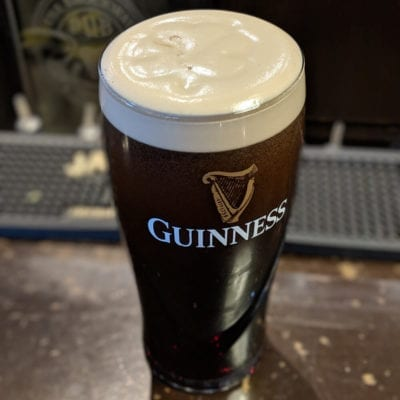 Perfect Pint of Guinness served at brockway irish pub in carmel