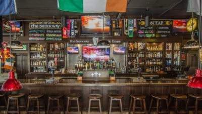bar room at brockway irish pub in carmel