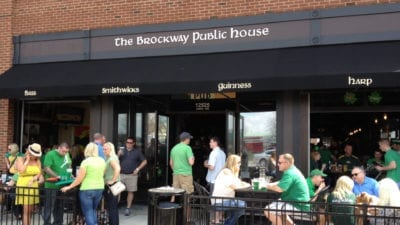 Brockway Irish Pub celebrating saint patricks day