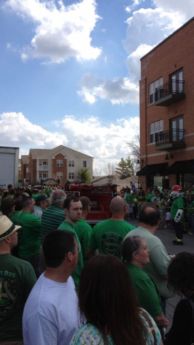 parade at Brockway Irish Pub to celebrate saint patricks day